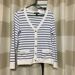 Lauren Ralph Lauren Striped Cardigan